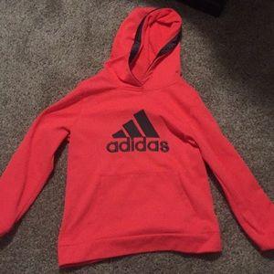 Adidas neon pink hoodie